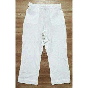 Soft Surroundings Womens Gauze White Pants Medium